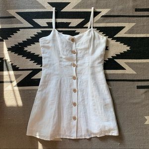White Urban Outfitters Button Front Dress